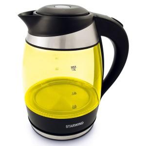 Чайник StarWind SKG2215, желтый/черный