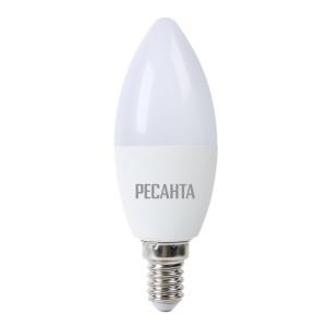 Лампа светодиодная РЕСАНТА LL-R-C37-7W-230-4K-E14 (свеча, 7Вт, нейтр., Е14) (10шт.)