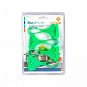Скребок Euro Kitchen RS-13L для чистки стеклокерамических салатовый