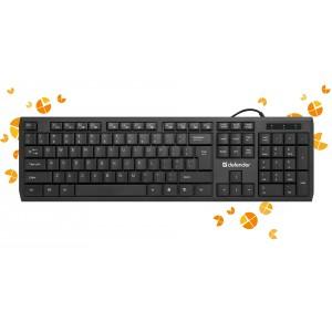 Клавиатура Defender OfficeMate SM-820, черный
