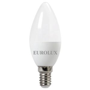 Лампа светодиодная Eurolux LL-E-C37-6W-230-4K-E14 (свеча, 6Вт, нейтр., Е14) (10шт.)