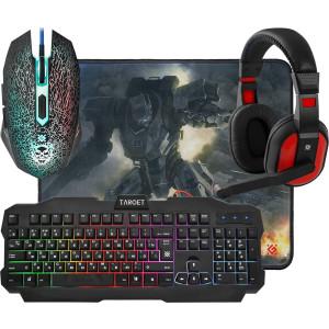 Игровой набор DEFENDER Target MKP-350 мышь+клавиатура+гарнитура+ков
