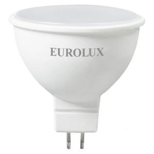 Лампа светодиодная Eurolux LL-E-MR16-7W-230-4K-GU5.3 (рефлектор, 7Вт, нейтр., GU5.3) (10шт.)