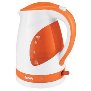 Чайник BBK EK1700P, белый/оранжевый